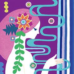日本の神様カード塗り絵
